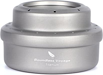 Boundless Voyage Titanium Alcohol Stove Outdoor Camping Ultralight Portable Mini Spirit Cooker Alcohol Burner for Camping Picnic Backpacking with Storage Bag 1.7oz Only