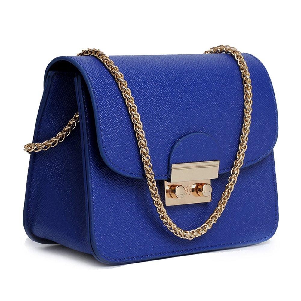 Women Crossbody Bag Chain Shoulder Handbag Leather Clutch Purse With Strap Mini Size