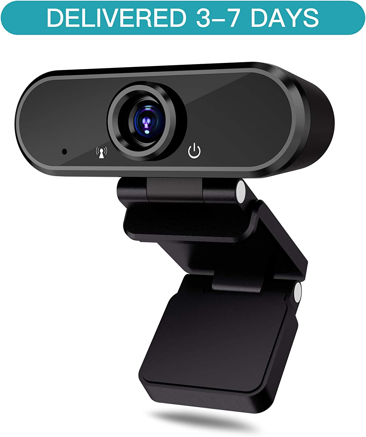 HD Webcam with Microphone, Auto Focus 1080p Web Camera for Video Calling Conferencing Recording, PC Laptop Desktop USB Webcams