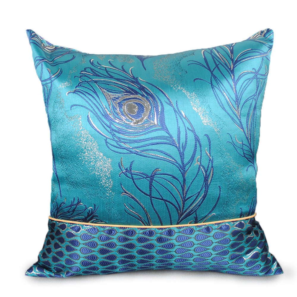 Y-Step Blue Flower Bed Runner Bedding Cover Pillowcase Hotel Home Decoration 3 Size