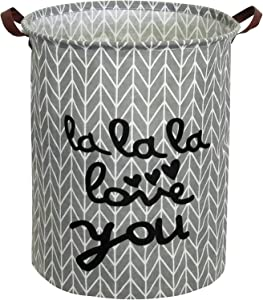"Simbuy 19.7"" Waterproof Collapsible Storage Basket, for Laundry Bin,Kids Room,Home Organizer,Nursery Storage,Baby Hamper(Grey)"