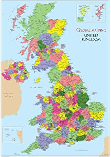 Map Of England For Ks1.Laminated Educational Wall Poster Uk Counties Map Gb Great Britain