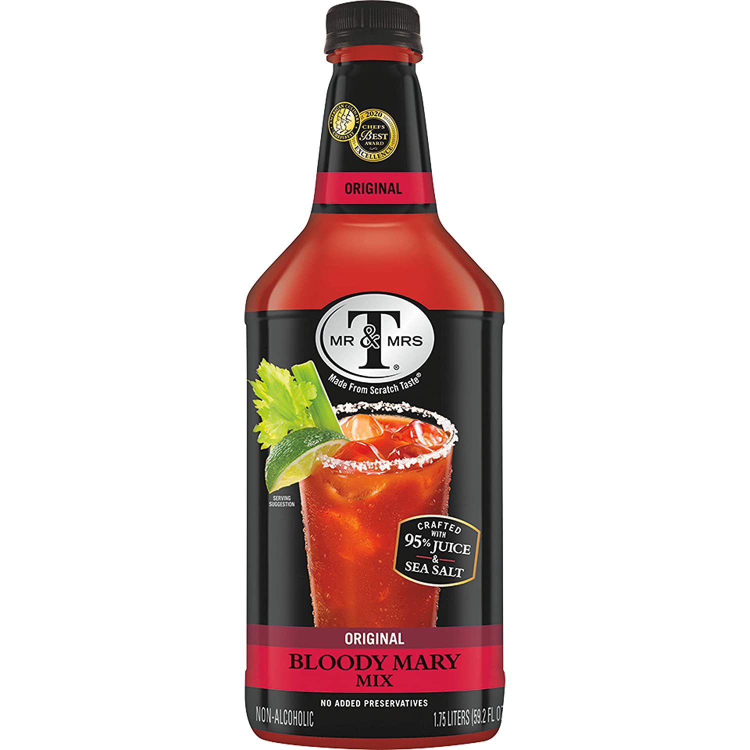 Mr & Mrs T Original Bloody Mary Mix, 1.75 L bottles (Pack of 6)