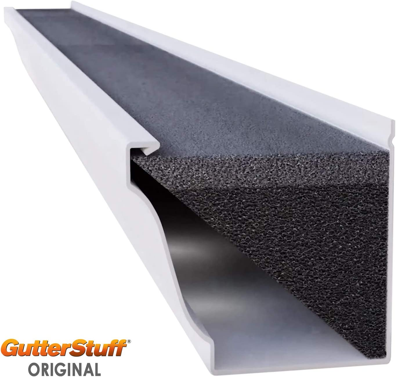 4-Inch K Style Foam Gutter Filter Insert with Year Round Leaf Protection /& Easy DIY Installation 48 x 4 192-feet GUTTERSTUFF Gutter Guard Renewed