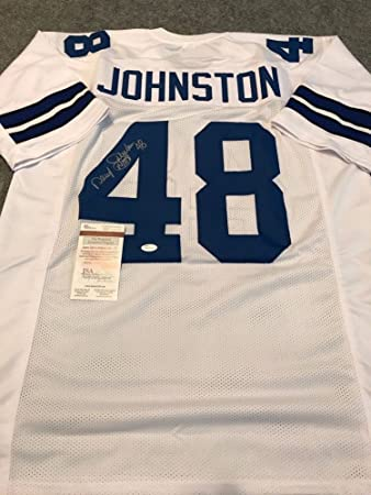 f1ada7cfae9 Daryl Johnston Autographed Signed Inscribed Dallas Cowboys Jersey - JSA  Authentication