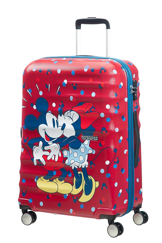 American Tourister Wavebreaker Medium Spinner Luggage Suitcase Minnie Loves Mickey - Medium - Adult