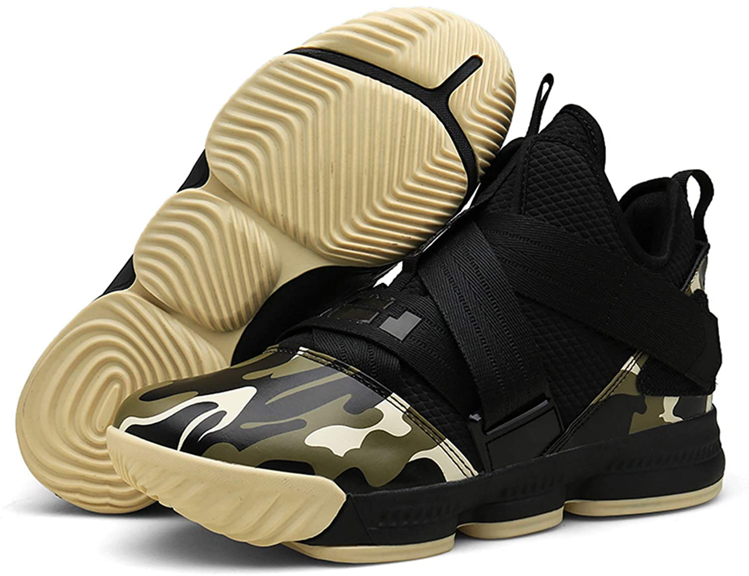 SINOES Men and Women Basketball Shoes Performance Shock Absorption Basketball Boots Trainer SneakersCushion Youth Student Basketball Shoes Basketball Boots