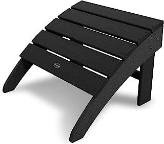 product image for POLYWOOD SBO22BL South Beach Adirondack Ottoman, Black