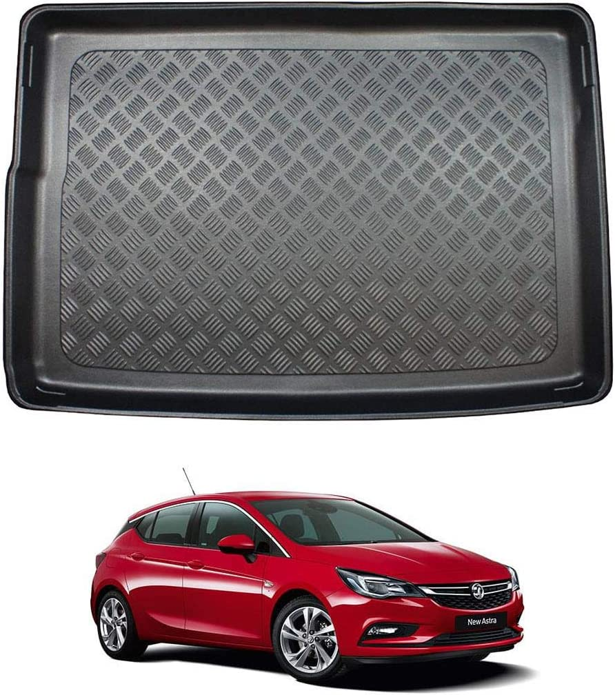 Hatchback 2015 on Nomad Auto Tailored Fit Durable Black Boot Liner Tray Mat Protector for Vauxhall Astra