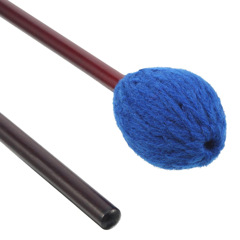 Blue Frienda 1 Pair Medium Hard Yarn Head Keyboard Marimba Mallets with Maple Handles