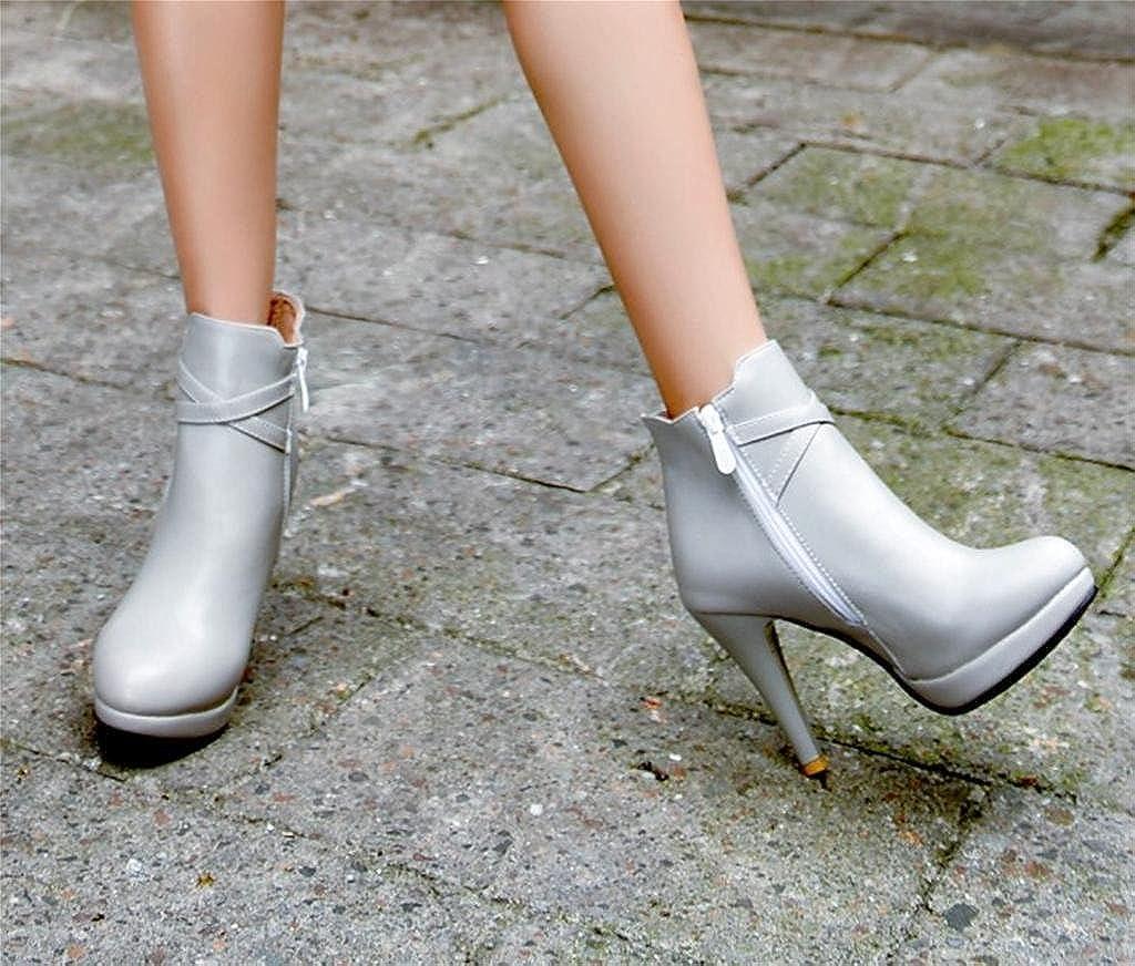 DZW damen damen damen Fashion Großes High Heeled Schuhe Damen Work Office Chelsea Stiefel Persönlichkeit 141125
