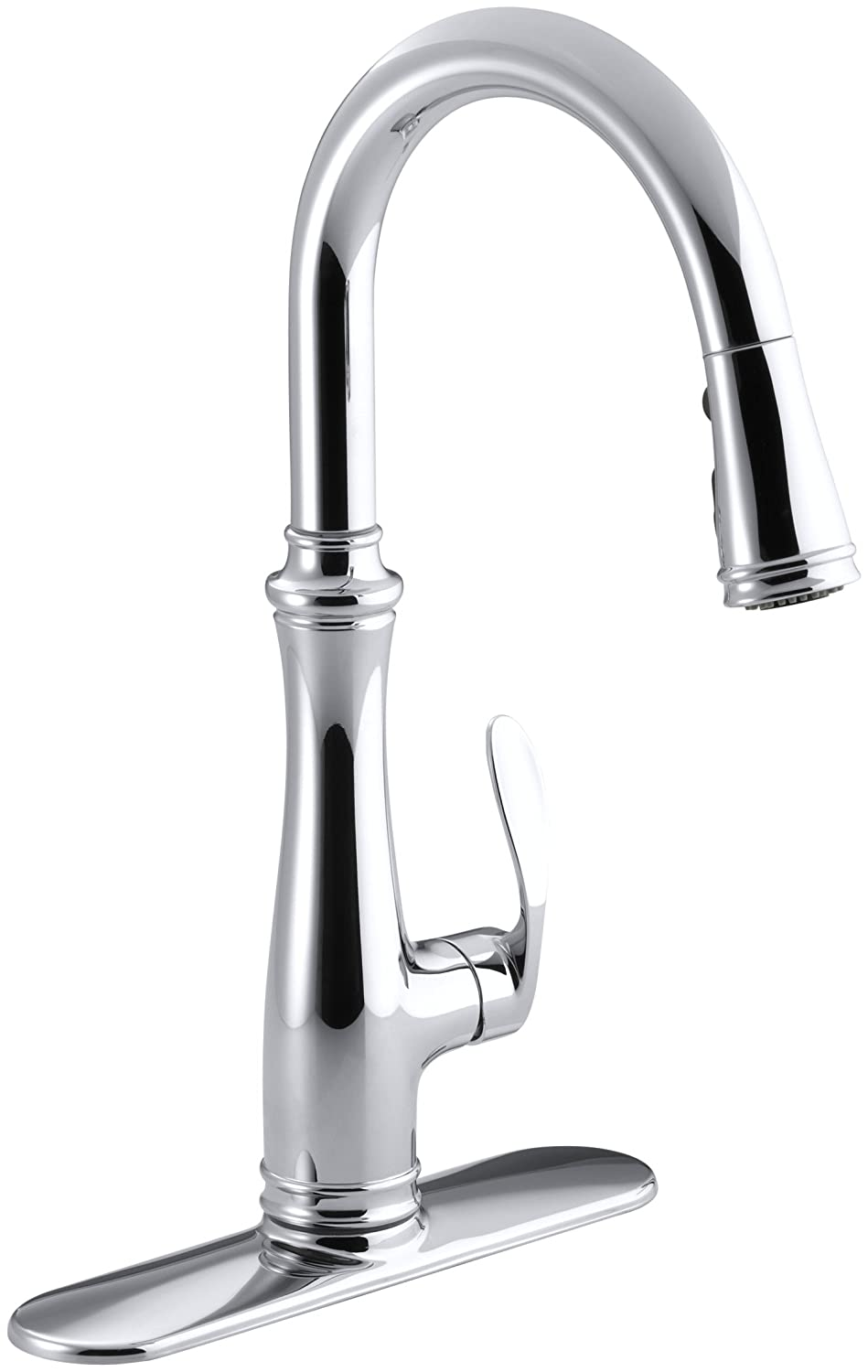 Wonderful Kohler K 560 CP Bellera Pull Down Kitchen Faucet, Chrome   Touch On Kitchen  Sink Faucets   Amazon.com