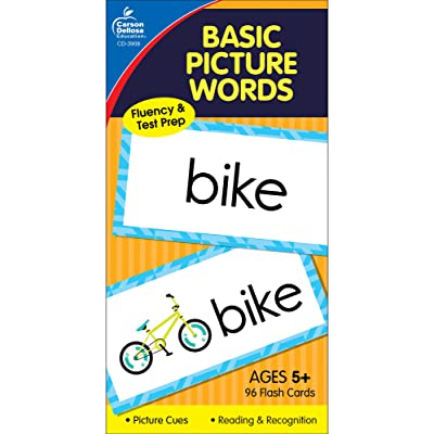 Carson Dellosa | Basic Picture Words Flash Cards | Ages 5+, 96ct: Carson-Dellosa Publishing: Office Products