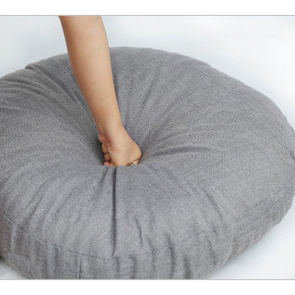 Zhi Jin 1pi/èce /épais Rond galettes de Coussin de Sol Confortable en Coton et Lin Coussins de Chaise pour Maison Canap/é d/écoratifs
