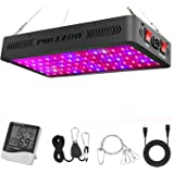 Phlizon 900W LED Plant Grow Light,with Thermometer Humidity Monitor,with Adjustable Rope,Full Spectrum Double Switch Plant Light for Indoor Plants Veg and Flower- 900W(10W LEDs 90Pcs)