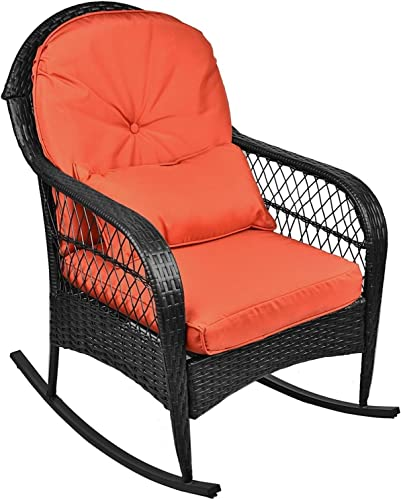 Grepatio Wicker Rocking Chair