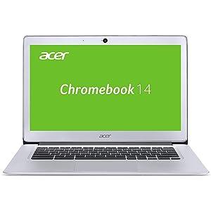 Acer Chromebook 14 (14 Zoll Full-HD IPS matt, Aluminium Unibody, 17mm flach, extrem lange Akkulaufzeit, schnelles WLAN, HDMI, Google Chrome OS) Silber