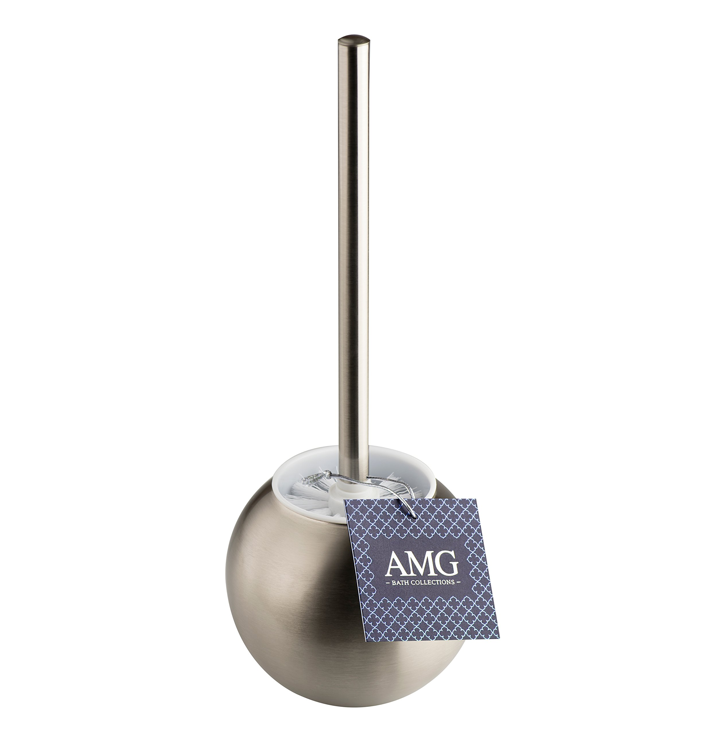 AMG and Enchante Accessories, Toilet Brush and Ball Holder, TB100001 SNI, Satin Nickel by AMG (Image #6)