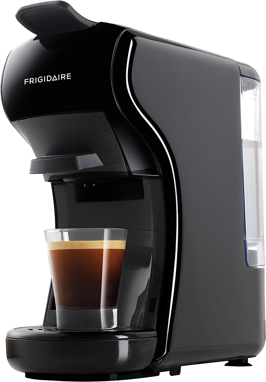 FRIGIDAIRE ECMN103-BLACK Multi Capsule Compatible Coffee Maker-Nespresso Dolce Gusto and Grounds, Black