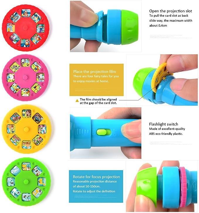 Amazon.com: unetox Proyector Proyector de juguete linterna ...