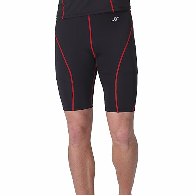 Para hombre pantalones cortos de compresión capa base de ropa interior muscular Skin Tight Pantalones Pantalones