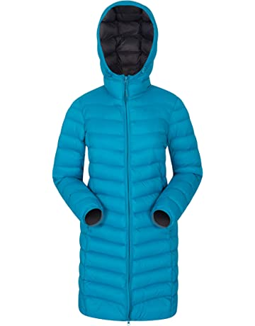 794d271084 Mountain Warehouse Florence Womens Winter Long Jacket - Water Resistant  Rain Coat, Lightweight Ladies Jacket