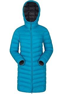 e25bc249bf7 Mountain Warehouse Florence Womens Winter Long Jacket - Water Resistant  Rain Coat