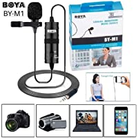 Boya By M1 Lavalier Microphone Mic For Recording Youtube Omnidirectional Condenser With 20ft Audio