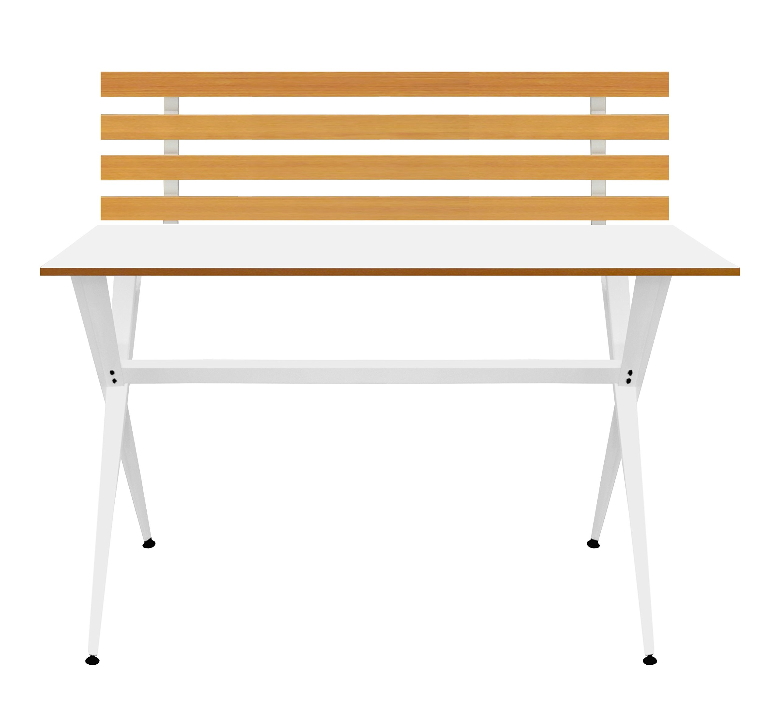 Urban Shop Contemporary Student Desk with Wood, White