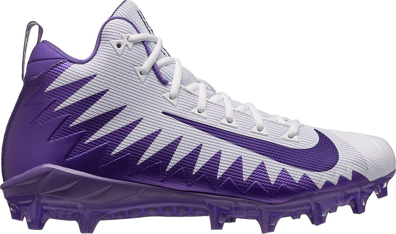 Nike Alpha Menace Pro Mid Mens Football Cleats (10.5 D (M) US, White/Purple)