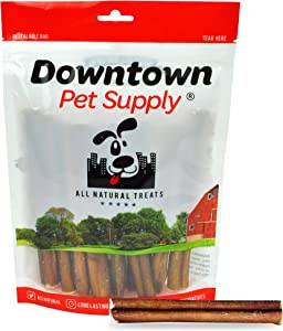 Downtown Pet Supply 6 inch Bully Sticks - Standard Regular Thick Select Dog Dental Chew Treats (30 Pack)