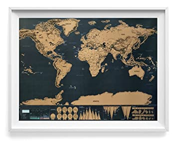 Amazon large scratch off adventure world map poster ultra large scratch off adventure world map poster ultra sharp black gold surface superior gumiabroncs Gallery