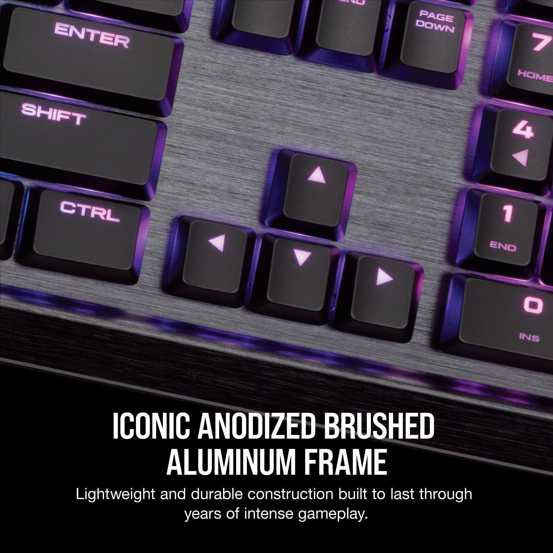 Est/ándar, Al/ámbrico, USB, Interruptor mec/ánico, LED RGB, Negro Corsair K70 MK.2 RGB Teclado