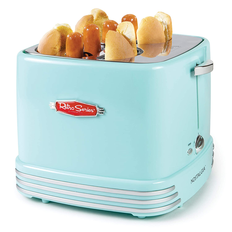 Nostalgia RHDT800AQ For Hot Dog and Buns Pop-Up Toaster Aqua