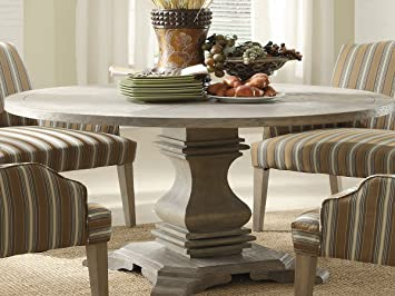Amazon.com: Trent Home Euro Casual Dining Table in Rustic Weather ...