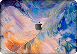 """Vonna Vinyl Decal Skin for Apple MacBook Pro 16"""" 2019 Pro 13"""" 2020 Retina 15"""" Air 13"""" 2018 Mac Air 11"""" Mac 12 Glam Abstract Blue Protective Cover Paint Print Sticker Luxury Laptop Fractal Art t0286"""