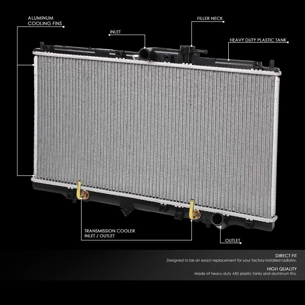 FOR 94-01 HONDA ACCORD 2.2L//PRELUDE AT PERFORMANCE ALUMINUM CORE RADIATOR 1494