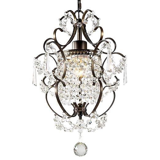 Amazon.com: GNDS - Lámpara de araña con cristales modernos ...