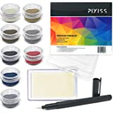 Embossing Kit, Powder, Clear Embossing Pen, Embossing Ink Pad, 8X 10ml Embossing Powders for Use with Embossing Heat Tool for