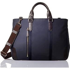 [グレヴィオ] 一流の鞄職人が作る ビジネスバッグ ビジネストートバッグ トートバッグ 大容量 自立 メンズ B4 ネイビー