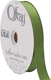 "product image for Berwick Offray 7/8"" Wide Double Face Satin Ribbon, Leaf Green, 100 Yards"