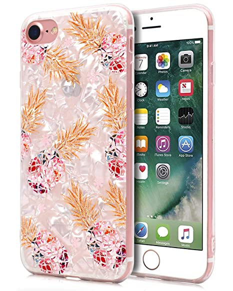 coque iphone 8 plus marbre ananas