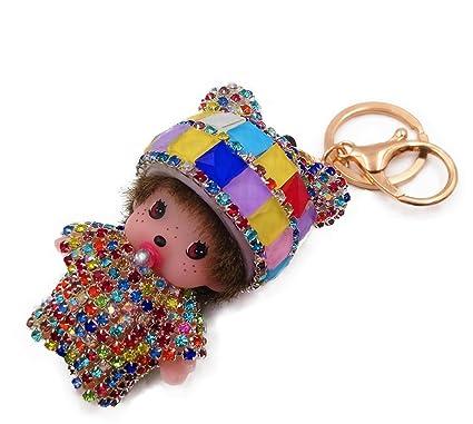 Llavero para Mujer Llavero monchhichi Kiki bebé (Harlequin ...