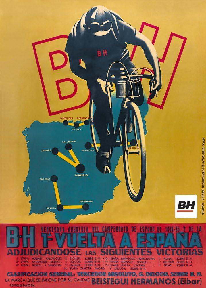 Vintage de ciclismo para la 1934 – 35 español b.h 1 una vuelta a ...