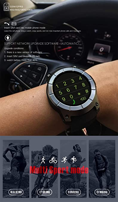 ZCPWJS Pulsera Inteligente Nuevo GPS S958 Reloj Inteligente ...