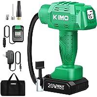 $69 » KIMO Portable Air Compressor, 20V 145PSI Tire Inflator w/ 1-Min Fast Tire Inflation, Li…