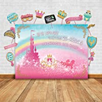 Glittery Garden Sparkly Gold Royal Princess Theme Photography Backdrop And Studio Props Diy Kit Great As Photo Booth Background Rainbow Pink Castle Birthday Party Supplies And Fairytale Baby Shower De