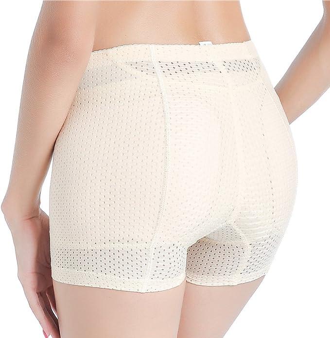UK Butt Lifter Body Shaper Padded Underwear Booty Booster Women Boyshorts Panies