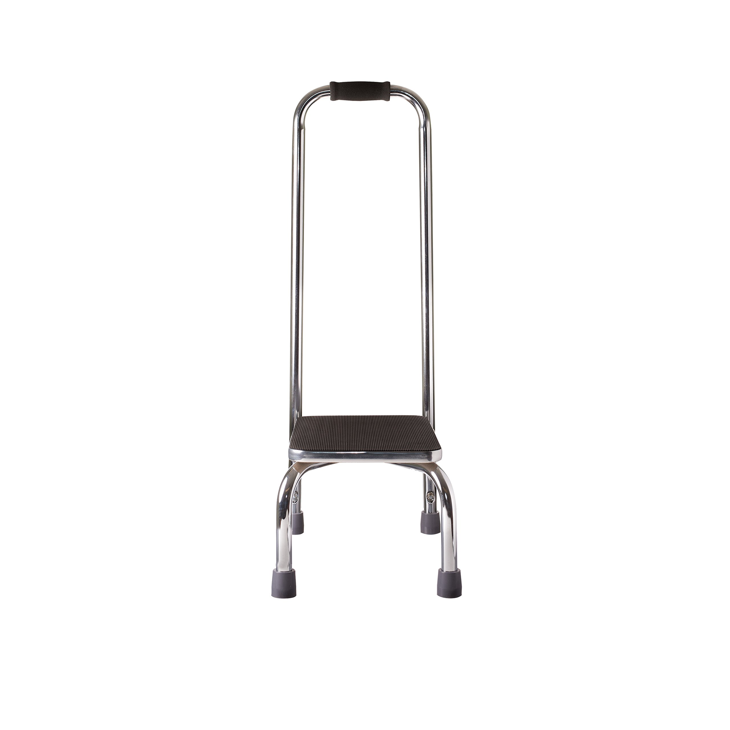 Duro Med Step Stool With Handle Silver And Black Medical