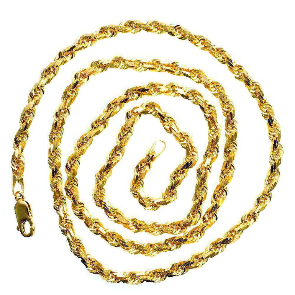 IcedTime 14K YELLOW Gold SOLID ROPE Chain - 24 inch Long 5mm Wide by IcedTime (Image #2)